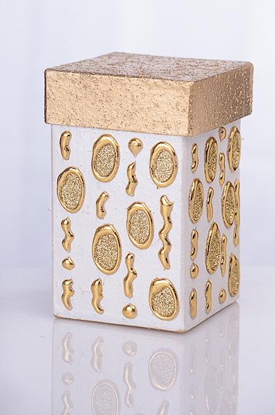 Geschenkbox hoch gold